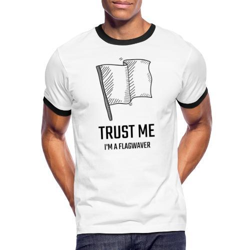 Trust me flag - Maglietta Contrast da uomo