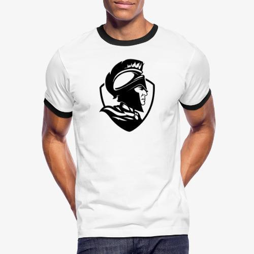 Logo svart - Kontrast-T-shirt herr