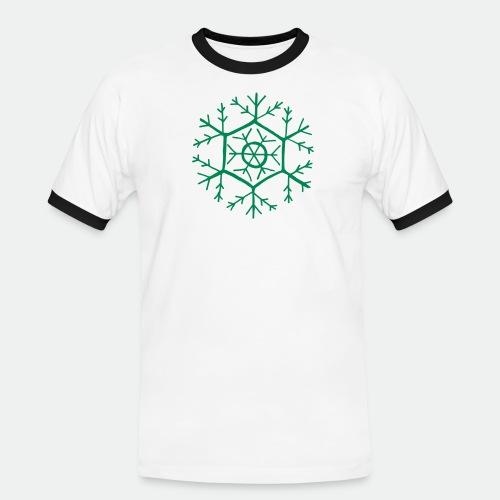 Snowflake molecule - Men's Ringer Shirt