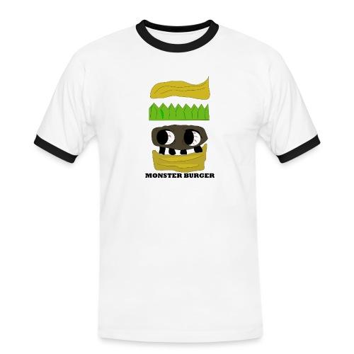 MONSTER BURGER - Männer Kontrast-T-Shirt
