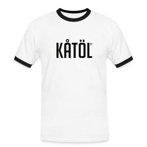kåtöl_text_black - Kontrast-T-shirt herr