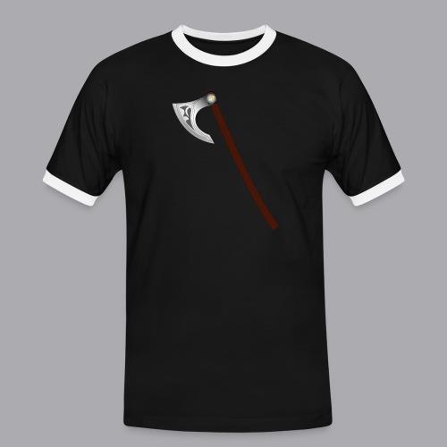 Wikinger Beil - Männer Kontrast-T-Shirt