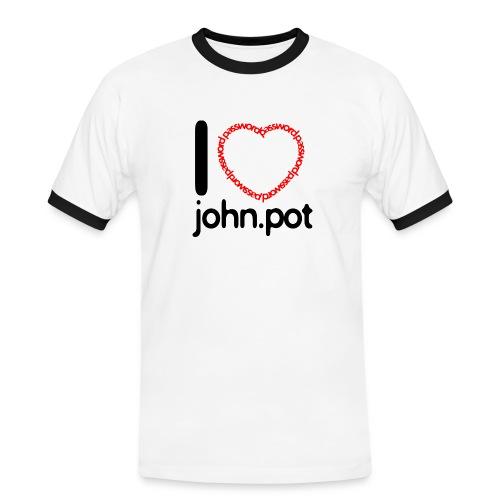 I Love John.pot - Men's Ringer Shirt