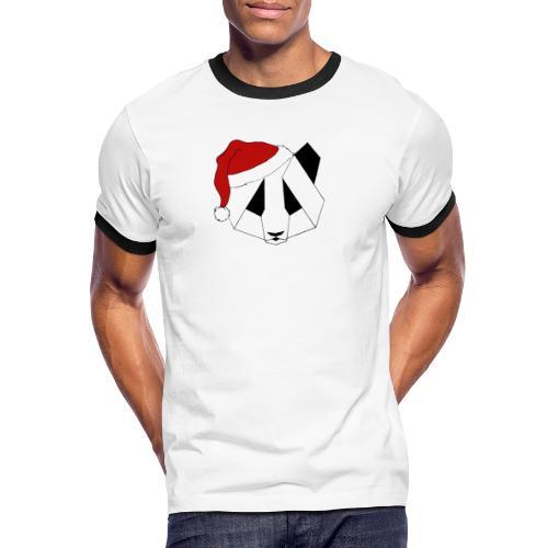 Christmas Panda - Herre kontrast-T-shirt