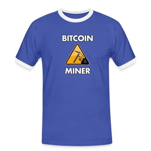 bitcoin t shirt design 5 png - Männer Kontrast-T-Shirt