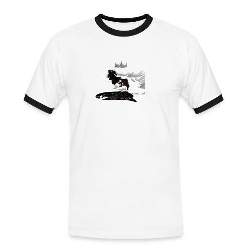 gotsnus - Kontrast-T-skjorte for menn