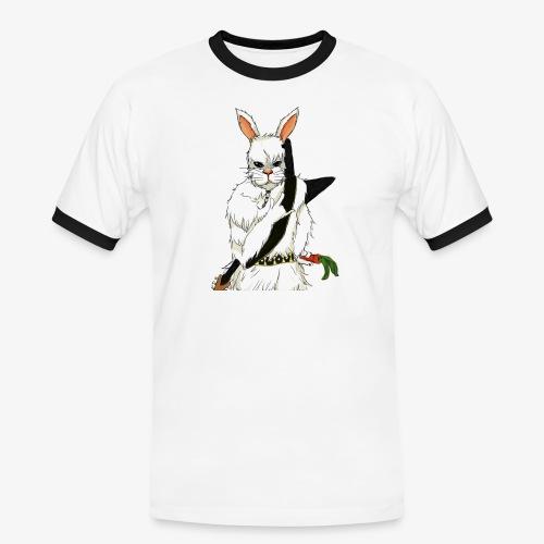 The white Rabbit - Kontrast-T-skjorte for menn
