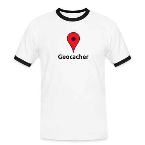 Geocacher - Männer Kontrast-T-Shirt
