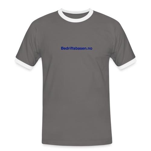 Bedriftsbasen.no logo - Kontrast-T-skjorte for menn
