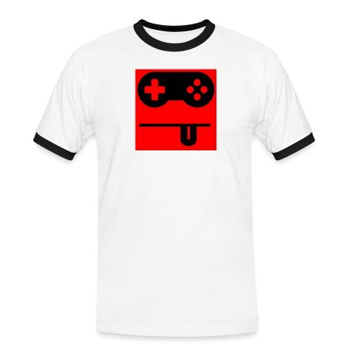 Logo Noobzocker - Männer Kontrast-T-Shirt