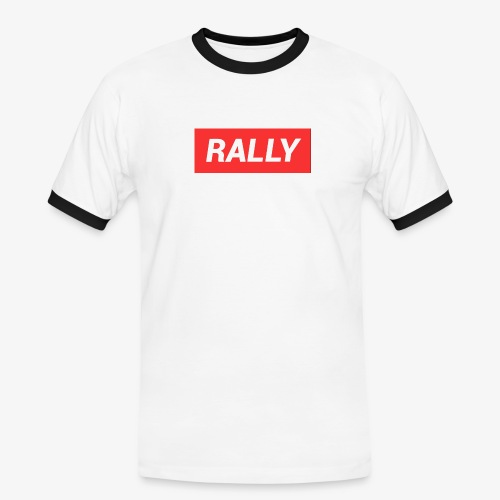 Rally classic red - Kontrast-T-shirt herr