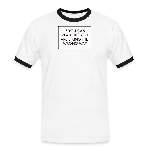if u can read this - T-shirt contrasté Homme