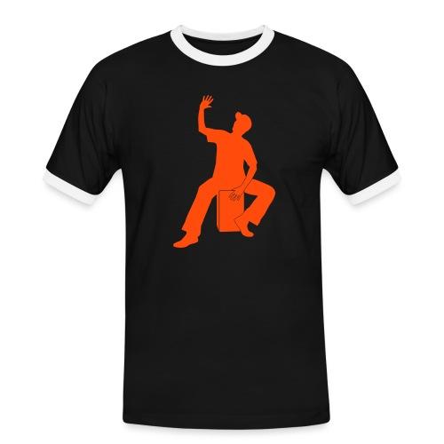 Cajon - Männer Kontrast-T-Shirt