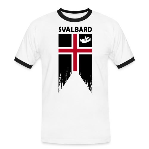 Svalbard the completely fictitious flag - Men's Ringer Shirt