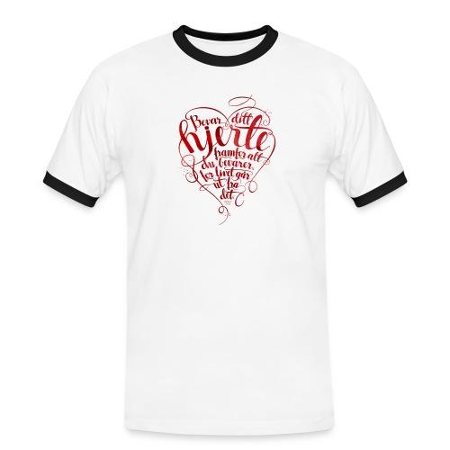 Bevar ditt hjerte - Kontrast-T-skjorte for menn