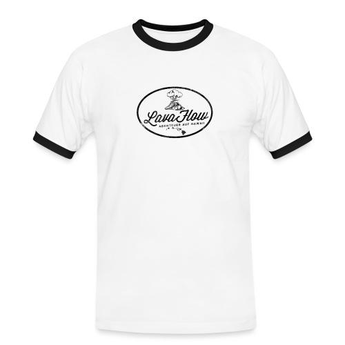 Hawaii Lavaflow Vintage - Männer Kontrast-T-Shirt