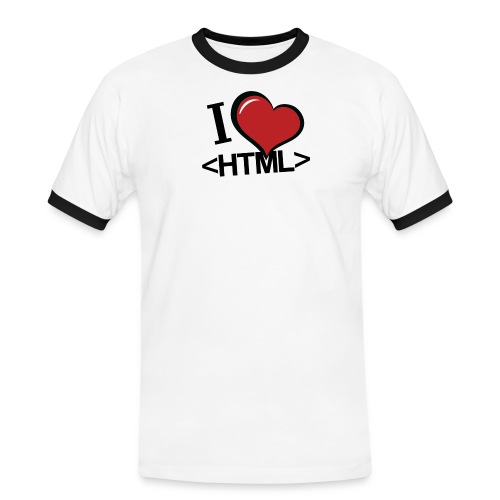 I love HTML! - Männer Kontrast-T-Shirt