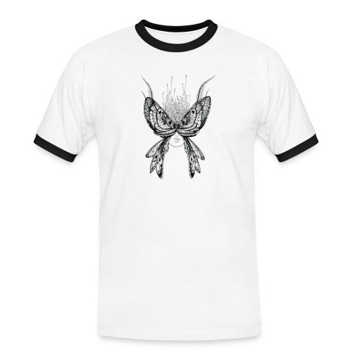 Nachtfalter - Männer Kontrast-T-Shirt