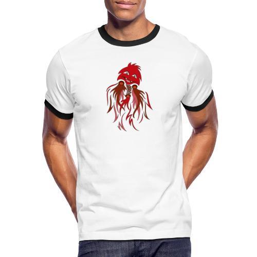fantasma halloween rosso - Maglietta Contrast da uomo