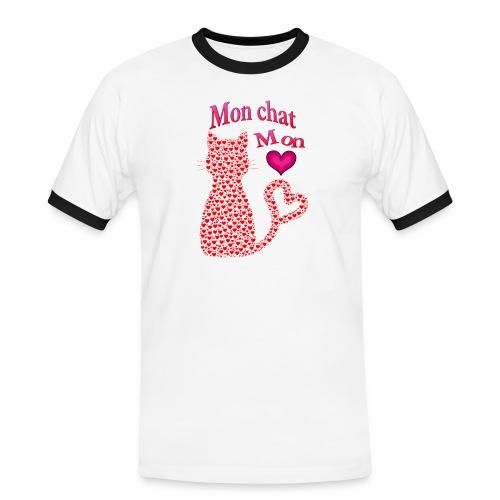 Mon chat mon coeur - T-shirt contrasté Homme