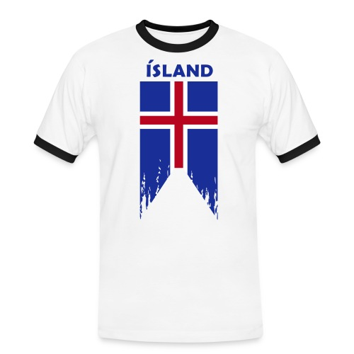 Island flosset flag - Men's Ringer Shirt