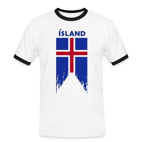 Island flosset flag - Men's Ringer Shirt