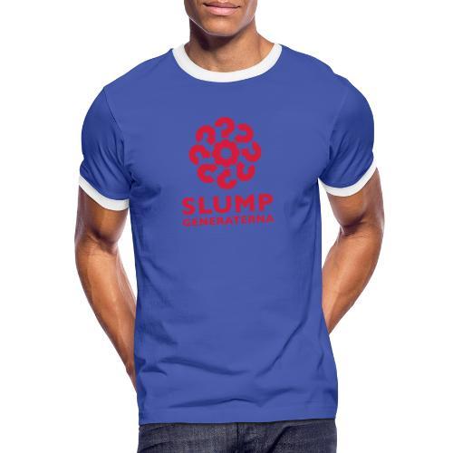 Slumpgeneraterna, logo röd - Kontrast-T-shirt herr