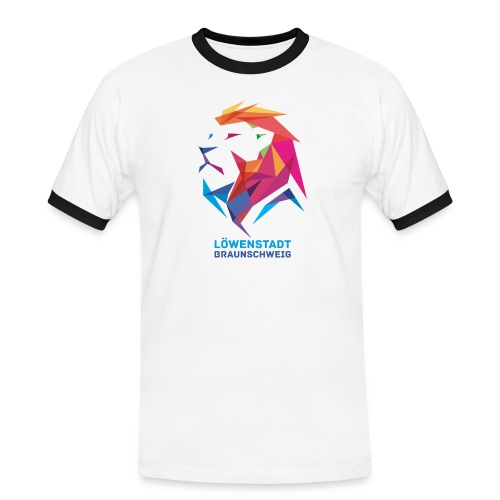 Löwenstadt Design 7 - Männer Kontrast-T-Shirt