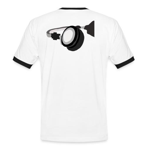 Stylischer Kopfhörer - Männer Kontrast-T-Shirt