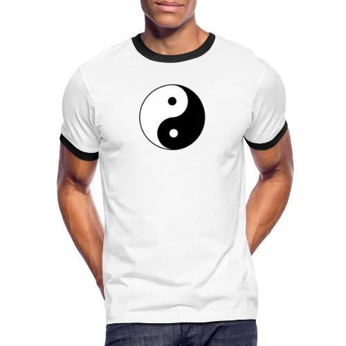 800px Yin yang svg 1 - Männer Kontrast-T-Shirt