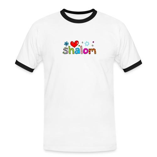 Shalom II - Männer Kontrast-T-Shirt