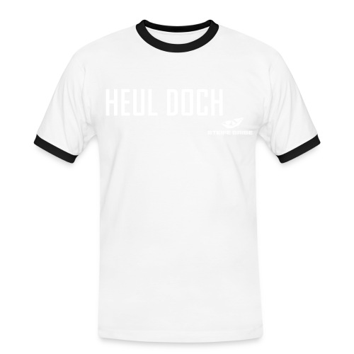 steife brise shirt mit logo s/w - Männer Kontrast-T-Shirt