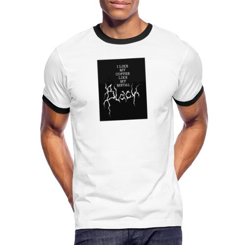 Kaffe - Kontrast-T-shirt herr