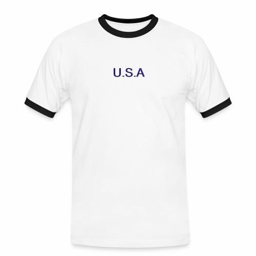 USA LOGO - T-shirt contrasté Homme