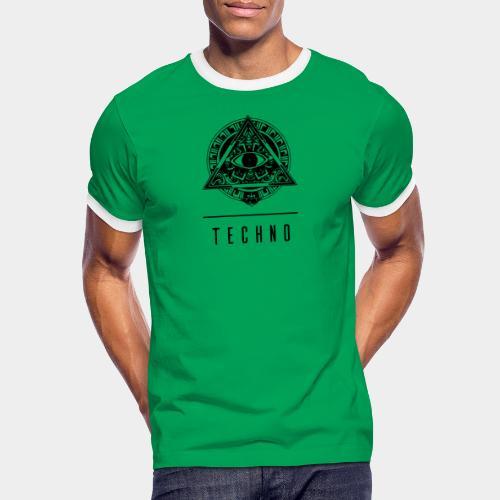 the EYE of TECHNO - Männer Kontrast-T-Shirt