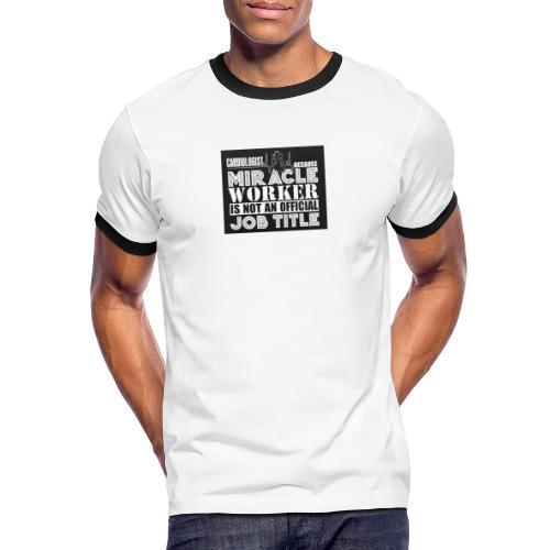 Svart tryck - Kontrast-T-shirt herr