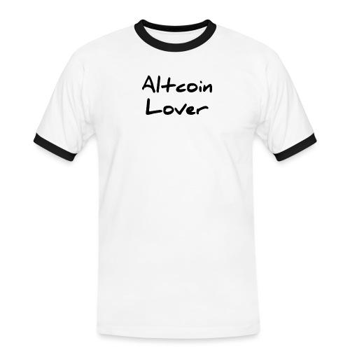 Altcoin_Lover_Black - Männer Kontrast-T-Shirt