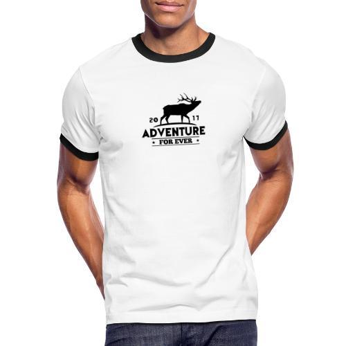 ADVENTURE FOR EVER - CERVO - Maglietta Contrast da uomo