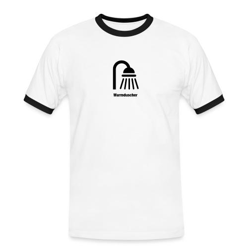 Warmduscher - Männer Kontrast-T-Shirt