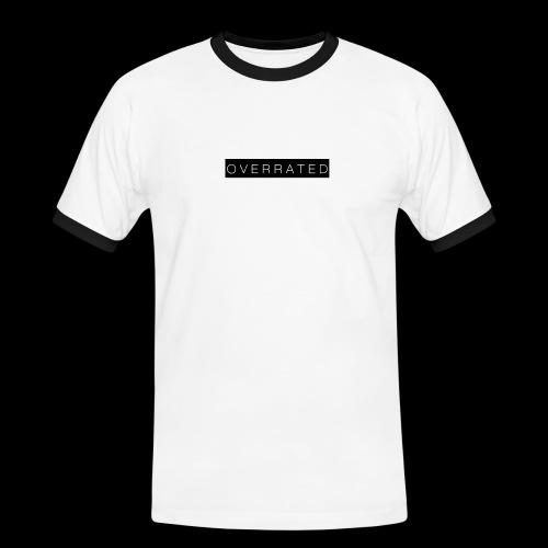 Overrated Black white - Mannen contrastshirt