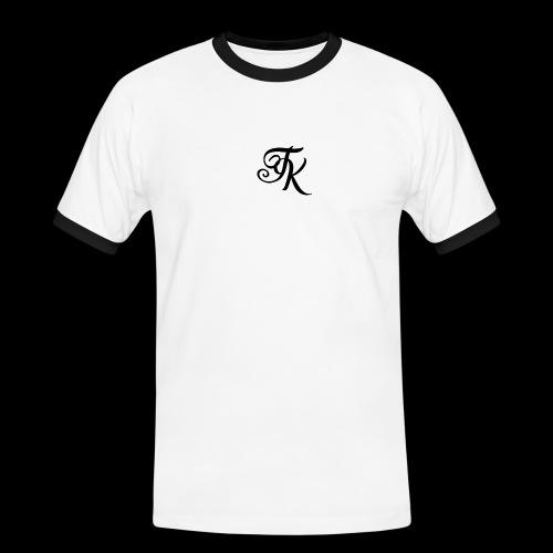 Camiseta blanca basica con logo TokyoXbrand - Camiseta contraste hombre