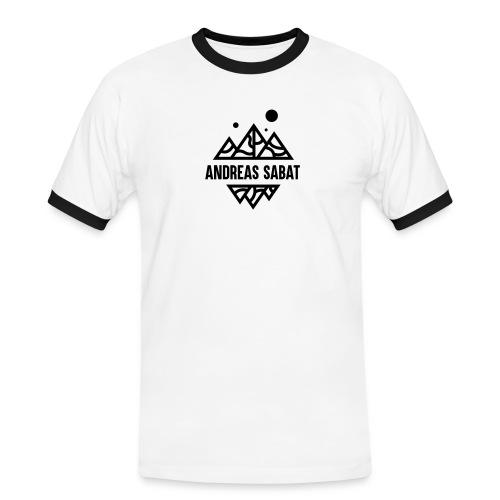 sabat logo black - Herre kontrast-T-shirt