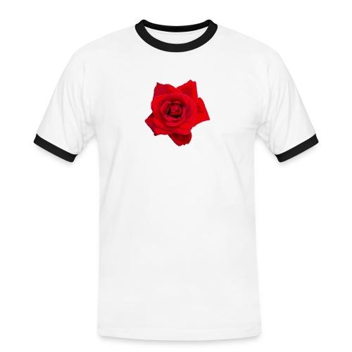 Red Roses - Koszulka męska z kontrastowymi wstawkami