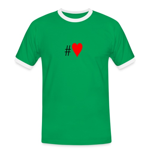 Hashtag Heart - Men's Ringer Shirt