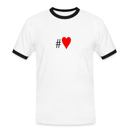 Hashtag Heart - Men's Ringer Shirt