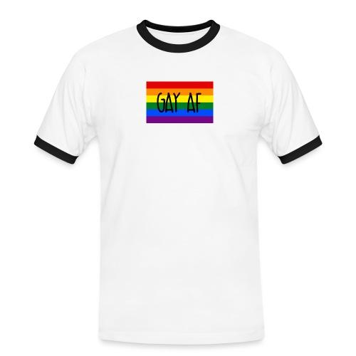 gay af - Männer Kontrast-T-Shirt