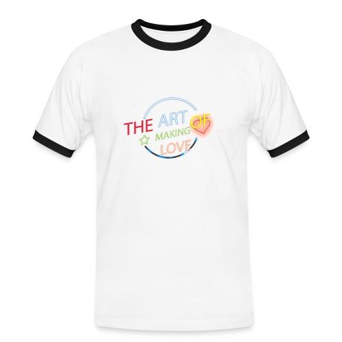 Neon style text effect jpg - Camiseta contraste hombre