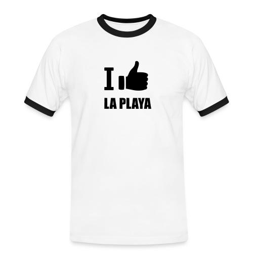 I like LA PLAYA Daumen - Männer Kontrast-T-Shirt