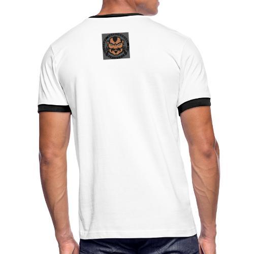 Khan - Kontrast-T-shirt herr