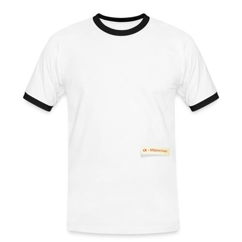 α Männchen - Männer Kontrast-T-Shirt